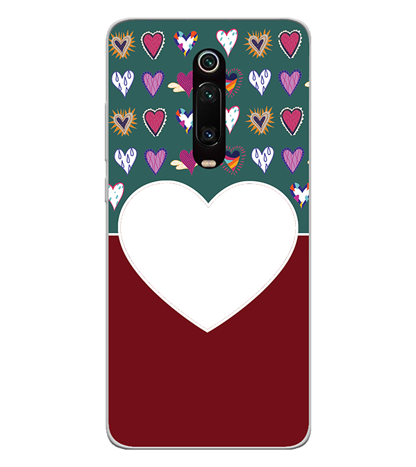 Hearts Photo Back Cover for Xiaomi Redmi K20 and K20 Pro