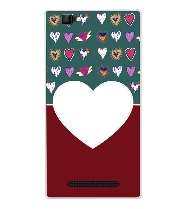 Hearts Photo Back Cover for Xolo Era 1X Pro