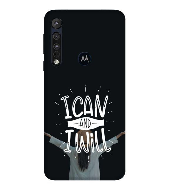 I Can and I Will Back Cover for Motorola One Macro