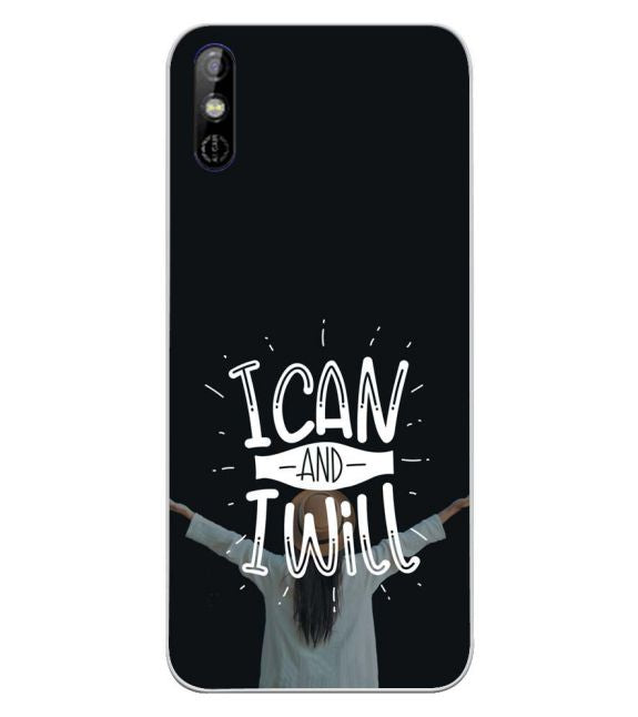 I Can and I Will Back Cover for Tecno Spark Go