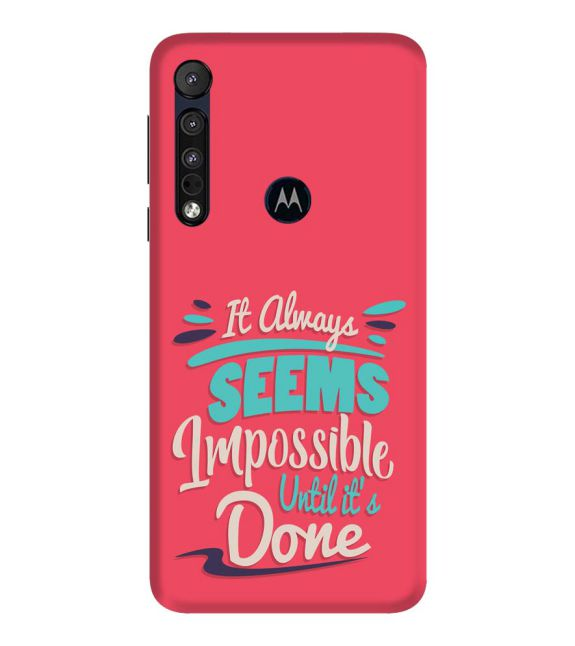 Impossible Till Done Back Cover for Motorola One Macro