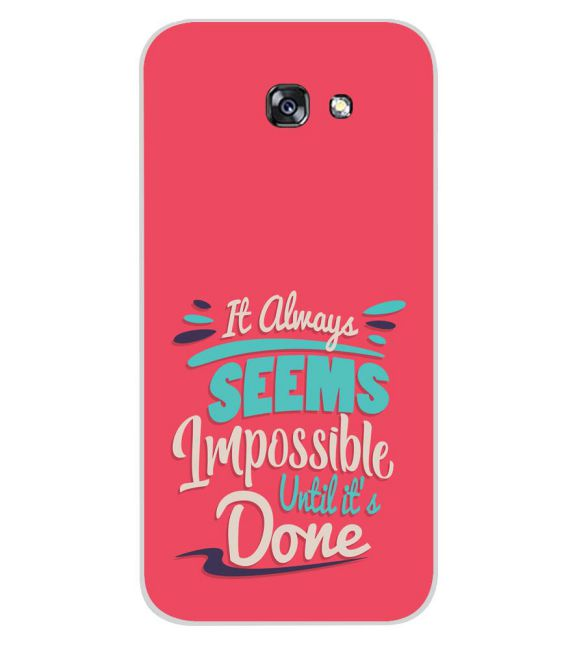 Impossible Till Done Back Cover for Samsung Galaxy A7 (2017)