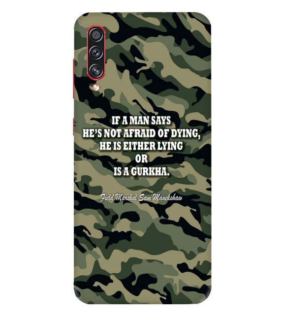 Indian Army Quote Back Cover for Samsung Galaxy A70s