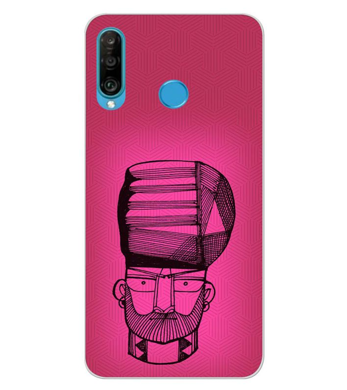 Intense look Back Cover for Huawei P30 lite