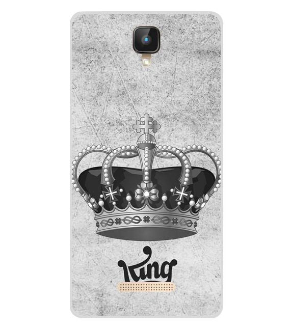 King Back Cover for Intex Aqua Lions 2 4G