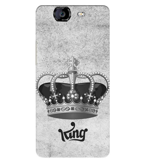 King Back Cover for Micromax A350 Canvas Knight