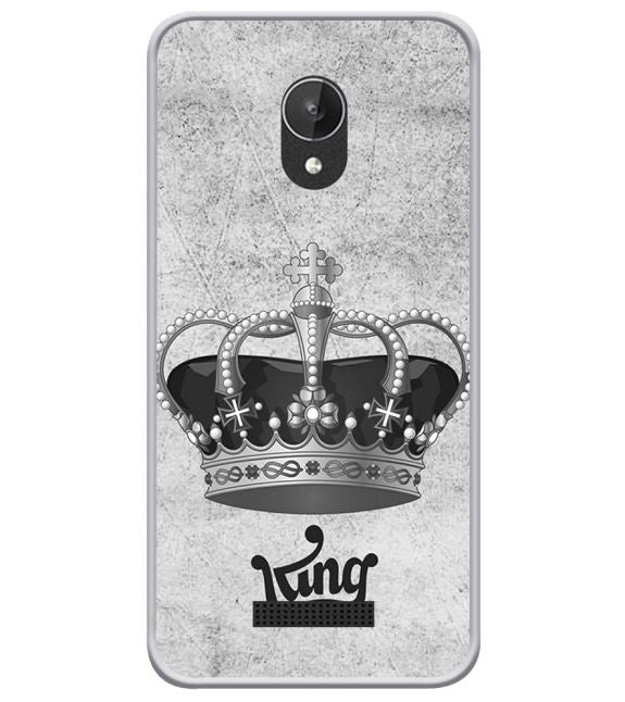 King Back Cover for Micromax Spark Q380