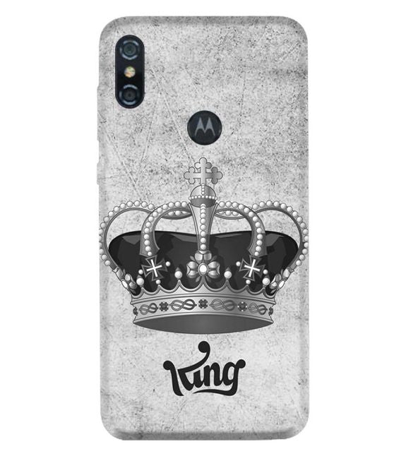 King Back Cover for Motorola One (P30 Play)