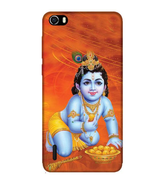 Krishna With Ladoos Back Cover for Huawei Honor 6