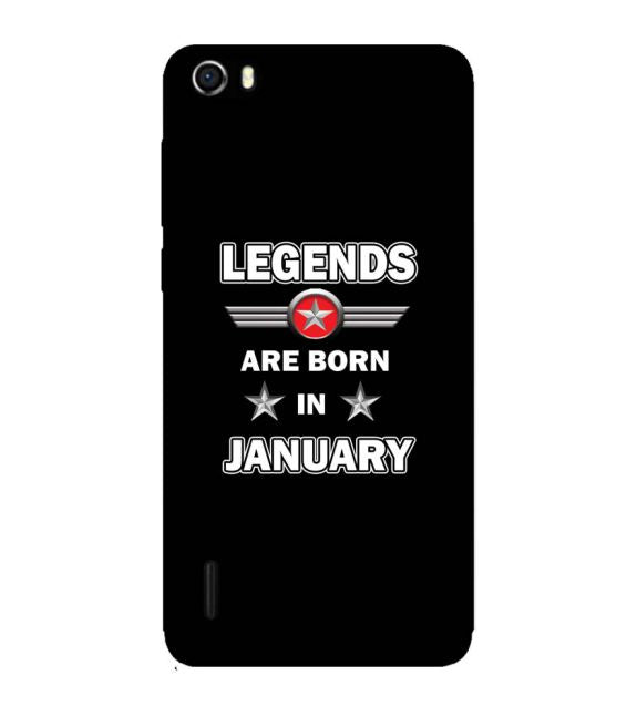 Legends Customised Back Cover for Huawei Honor 6