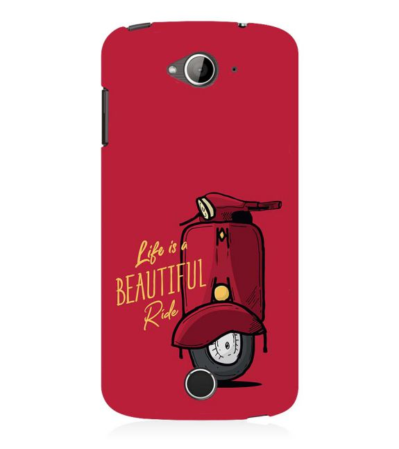 Life is Beautiful Ride Back Cover for Acer Liquid Zade 530