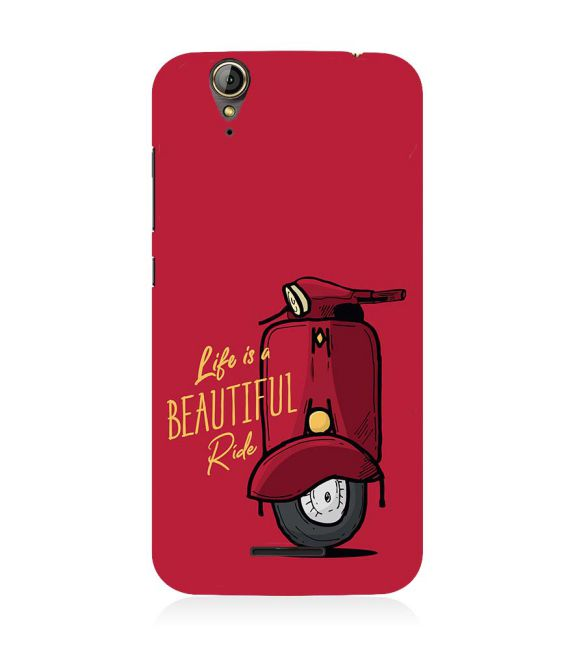 Life is Beautiful Ride Back Cover for Acer Liquid Zade 630