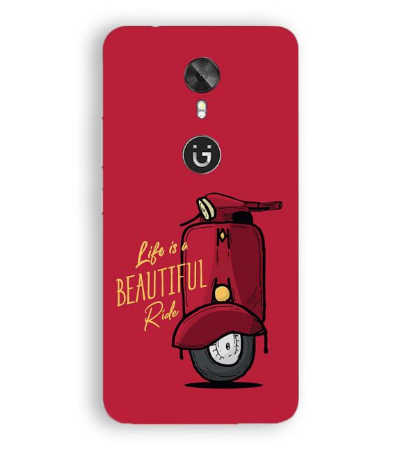 Life is Beautiful Ride Back Cover for Gionee A1