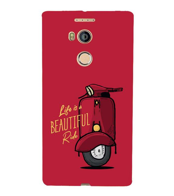 Life is Beautiful Ride Back Cover for Gionee Elife E8