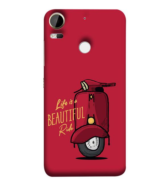 Life is Beautiful Ride Back Cover for HTC Desire 10 Pro