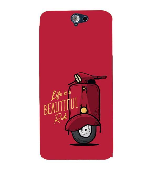 Life is Beautiful Ride Back Cover for HTC One A9