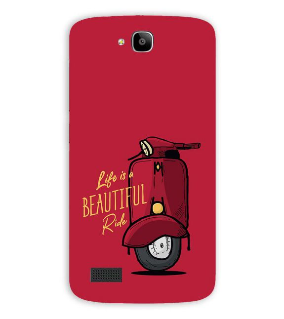 Life is Beautiful Ride Back Cover for Huawei Honor Holly