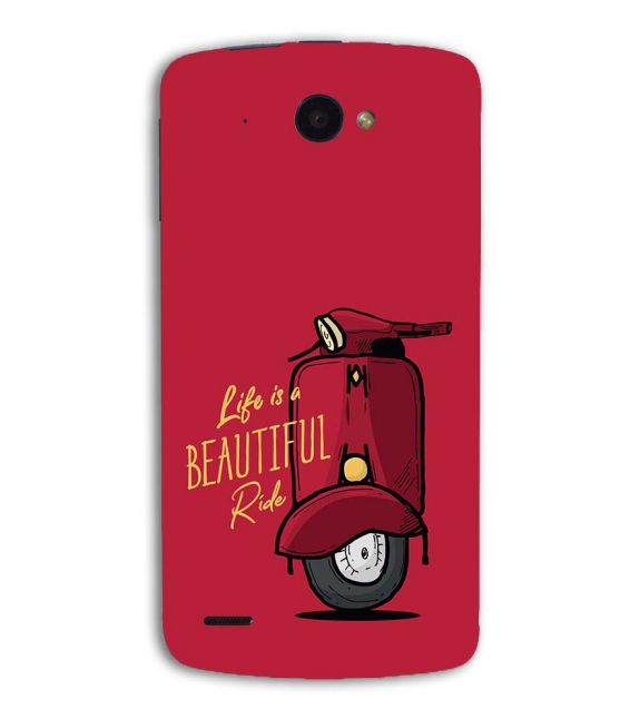 Life is Beautiful Ride Back Cover for Lenovo S920