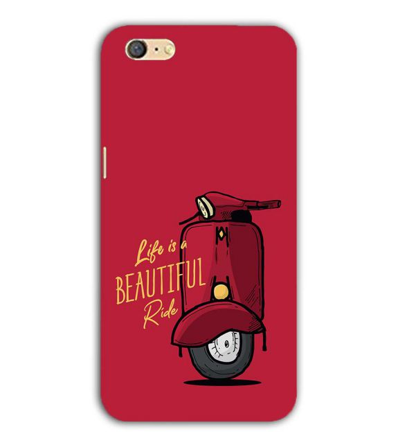 Life is Beautiful Ride Back Cover for Oppo A71
