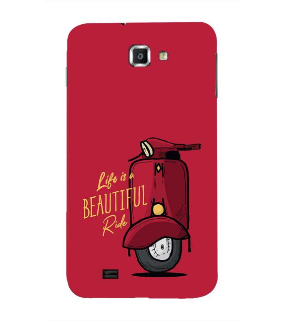 Life is Beautiful Ride Back Cover for Samsung Galaxy Note N7000