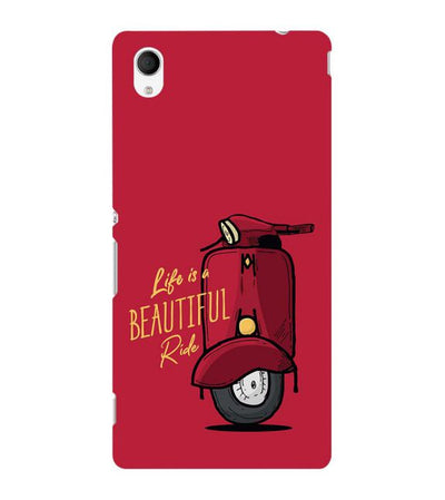 Life is Beautiful Ride Back Cover for Sony Xperia M4 Aqua