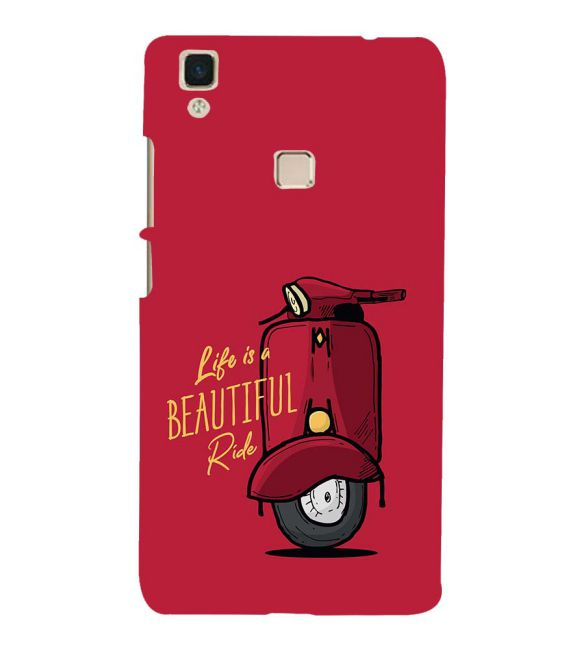 Life is Beautiful Ride Back Cover for Vivo V3Max
