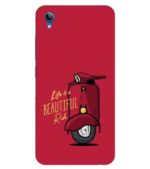 Life is Beautiful Ride Back Cover for Vivo Y91i