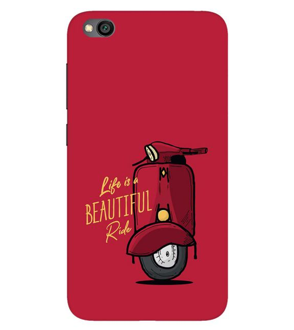 Life is Beautiful Ride Back Cover for Xiaomi Redmi Go