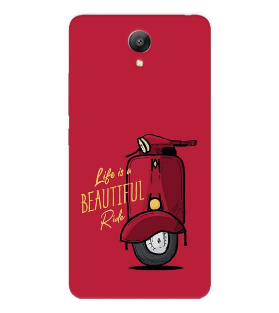 Life is Beautiful Ride Back Cover for Xiaomi Redmi Note 2