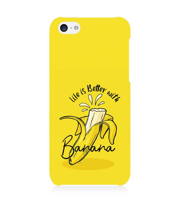 Life is Better with Banana Back Cover for Apple iPhone 5c