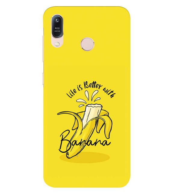Life is Better with Banana Back Cover for Asus Zenfone Max (M1) ZB556KL