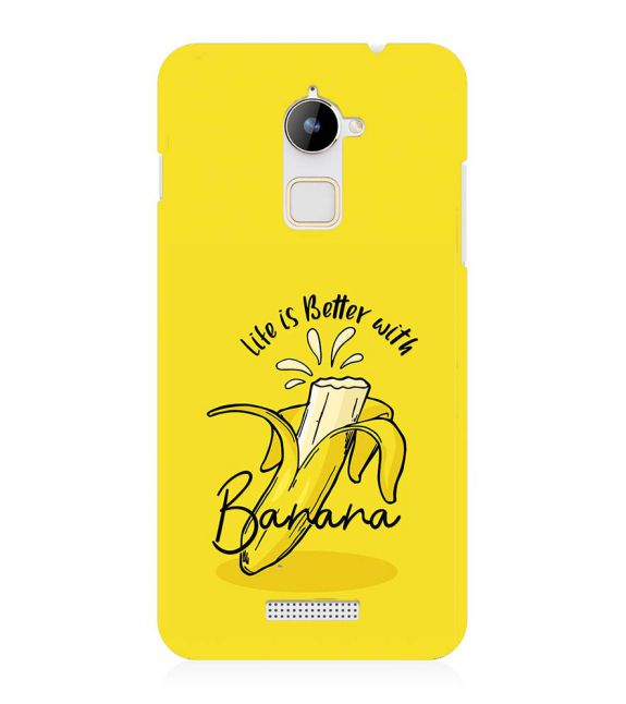 Life is Better with Banana Back Cover for Coolpad Note 3 Lite