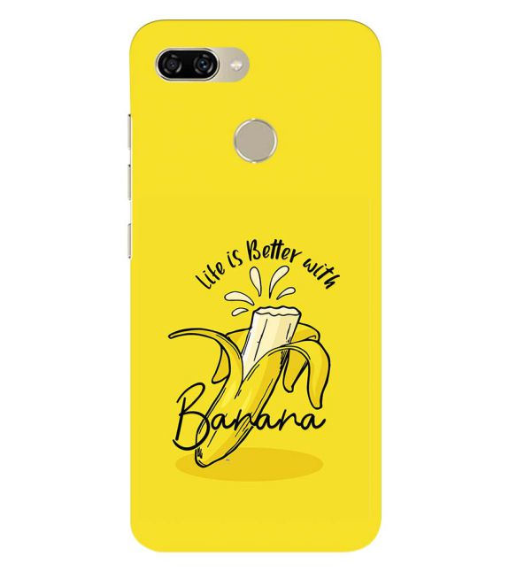 Life is Better with Banana Back Cover for Gionee S11 lite