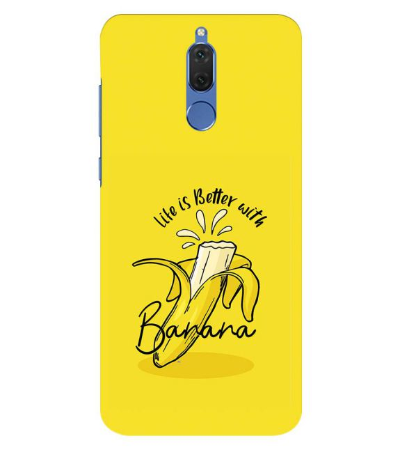 Life is Better with Banana Back Cover for Honor 10 Lite