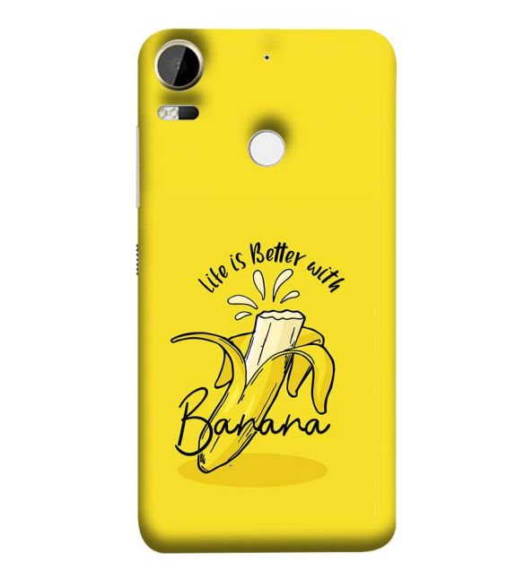 Life is Better with Banana Back Cover for HTC Desire 10 Pro
