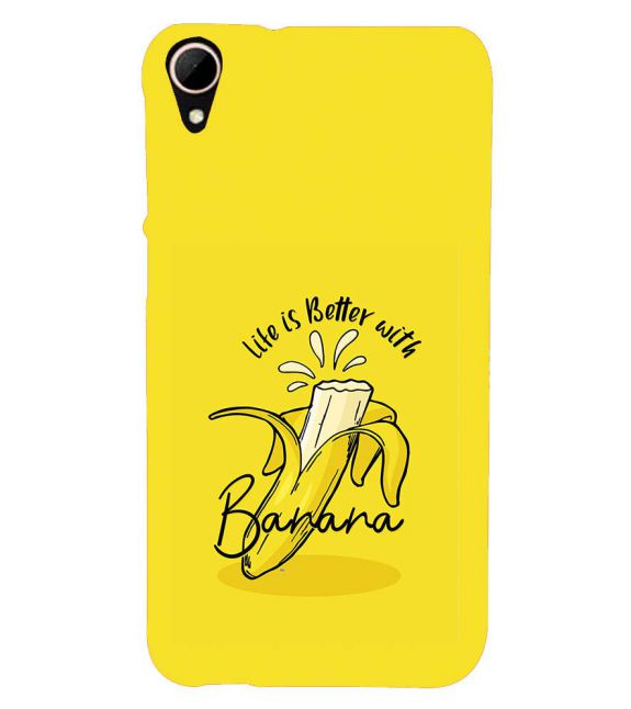 Life is Better with Banana Back Cover for HTC Desire 828