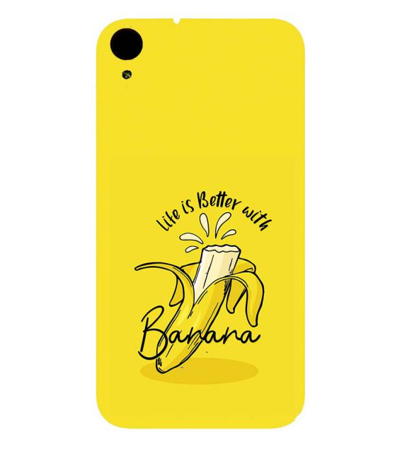 Life is Better with Banana Back Cover for HTC Desire 830