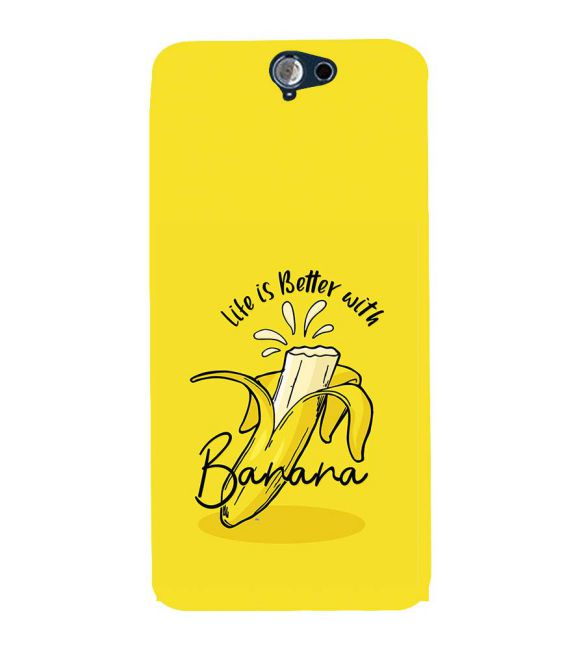 Life is Better with Banana Back Cover for HTC One A9