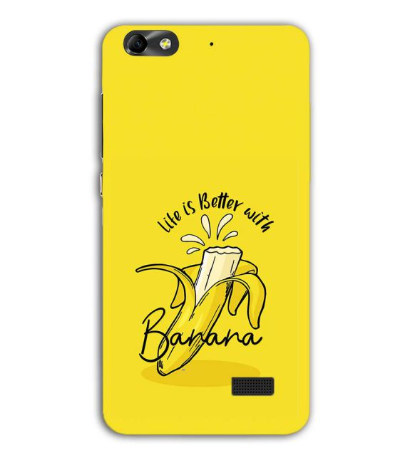 Life is Better with Banana Back Cover for Huawei Honor 4C