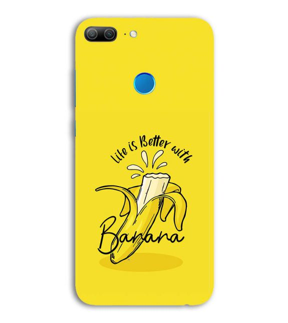 Life is Better with Banana Back Cover for Huawei Honor 9 Lite
