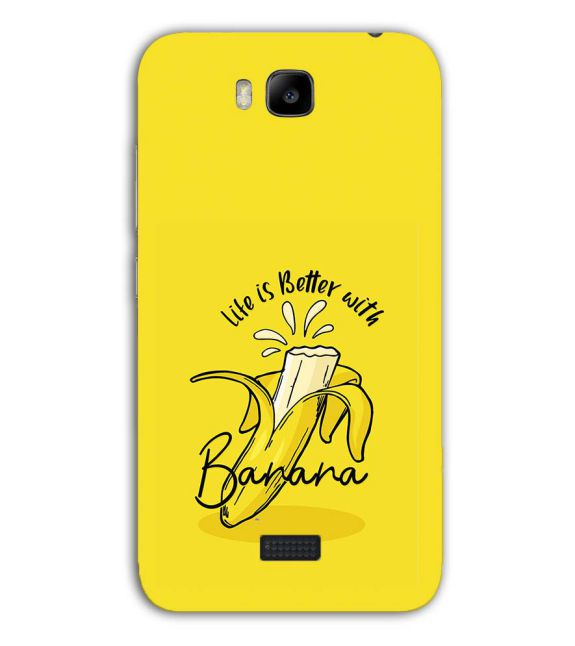 Life is Better with Banana Back Cover for Huawei Honor Bee