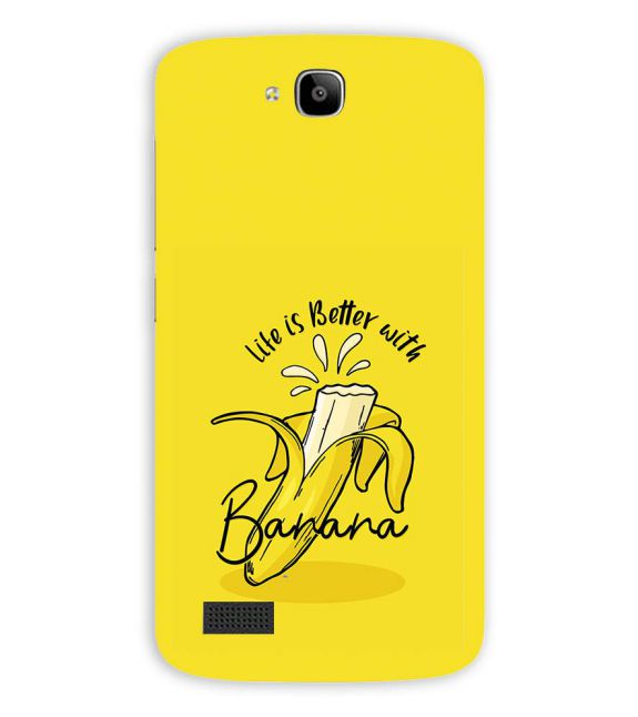 Life is Better with Banana Back Cover for Huawei Honor Holly