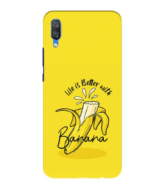 Life is Better with Banana Back Cover for Huawei Nova 3