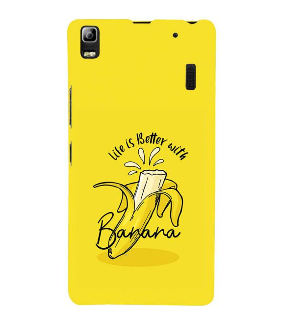Life is Better with Banana Back Cover for Lenovo A7000 and K3 Note