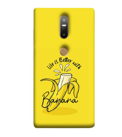 Life is Better with Banana Back Cover for Lenovo Phab 2 Plus