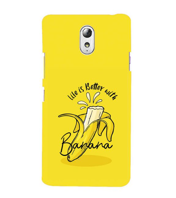 Life is Better with Banana Back Cover for Lenovo Vibe P1M