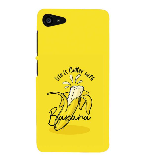 Life is Better with Banana Back Cover for Lenovo ZUK Z2