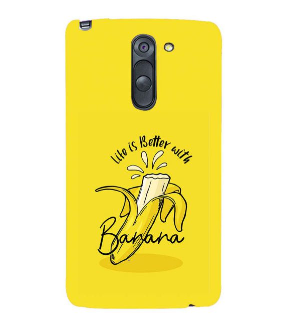 Life is Better with Banana Back Cover for LG G3 Stylus