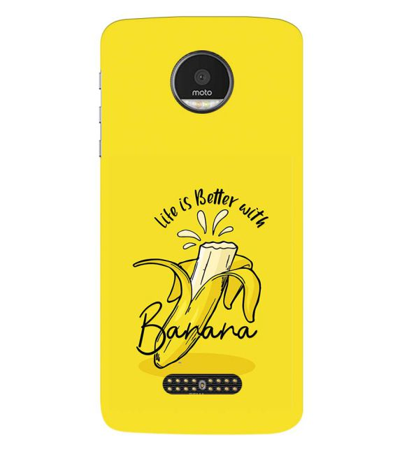 Life is Better with Banana Back Cover for Motorola Moto Z