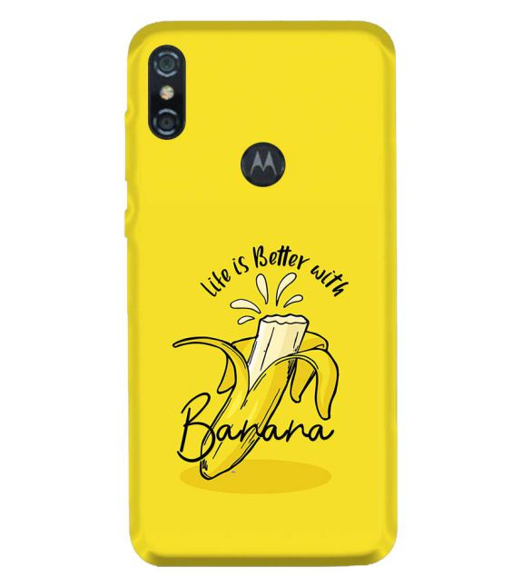 Life is Better with Banana Back Cover for Motorola One (P30 Play)